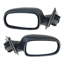 Mirror - Driver and Passenger Side (Pair), Power, Heated, Folding, Paintable, For Sedan or Wagon