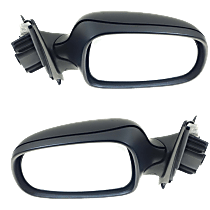 Mirror - Driver and Passenger Side (Pair), Power, Heated, Folding, Paintable, With Memory, For Sedan or Wagon