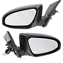 Driver and Passenger Side Heated Mirror - Power Glass, Power Folding, Without memory, Paintable