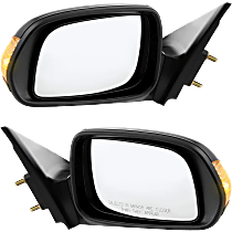 Power Mirror, Driver and Passenger Side, Non-Folding, Non-Heated, w/ Signal, Paintable