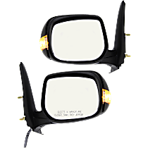 Power Mirror, Driver and Passenger Side, Manual Folding, Non-Heated, w/ Signal, Paintable