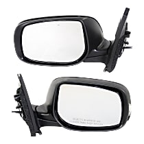 Kool Vue Power Mirror, Driver and Passenger Side, Manual Folding, Non-Heated, w/ LED Signal, Paintable
