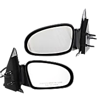 Kool Vue Power Mirror, Driver and Passenger Side, Non-Folding, Non-Heated, Paintable