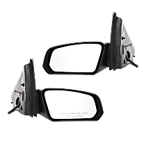 Power Mirror, Driver and Passenger Side, Sedan, Non-Folding, Non-Heated, Textured Black