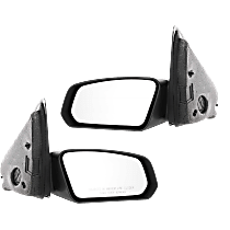 Mirror - Driver and Passenger Side (Pair), Textured Black, For Sedan