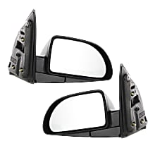 Kool Vue Power Mirror, Driver and Passenger Side, Base/Green Line Models, Manual Folding, Non-Heated, Textured Black