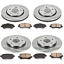 SET-STP18OEREP31 Front And Rear Brake Disc and Pad Kit, 4-Wheel Set
