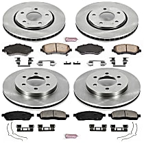 SET-STP43OEREP19-C SureStop OE Replacement Brake Disc and Pad Kit, 4-Wheel Set