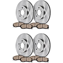 SET-STP57OEREP46-C SureStop OE Replacement Front and Rear Brake Disc and Pad Kit, 4-Wheel Set