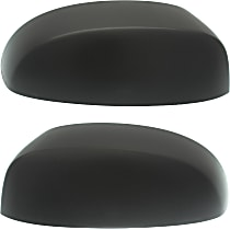 Mirror Cover - Driver and Passenger Side, Textured Black, Plastic, Direct Fit, Set of 2