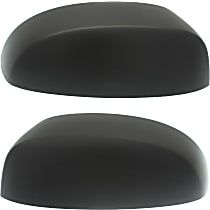 StyleLine Mirror Cover - SET-STYCV0714MC01 - Driver and Passenger Side, Textured Black, Plastic, Direct Fit, Set of 2