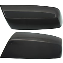 Mirror Cover - Driver and Passenger Side, Paint to Match, Plastic, Direct Fit, Set of 2