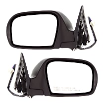 Kool Vue Power Mirror, Driver and Passenger Side, Manual Folding, Heated, Textured Black