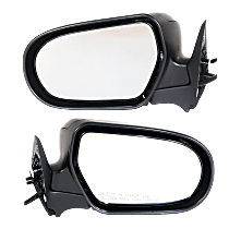 Power Mirror, Driver and Passenger Side, Manual Folding, Non-Heated, w/o Signal, Paintable