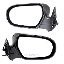 Power Mirror, Driver and Passenger Side, Manual Folding, Heated, w/o Signal, Textured Black