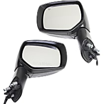 Kool Vue Power Mirror, Driver and Passenger Side, Manual Folding, Heated, w/ Signal, Paintable
