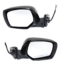 Mirrors - Driver and Passenger Side, Pair, Power, Heated, Paintable