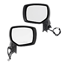 Mirror - Driver and Passenger Side (Pair), Power, With Paintable and Textured Black Caps