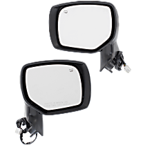 Mirror - Driver and Passenger Side (Pair), Power, Heated, With Paintable and Textured Black Caps