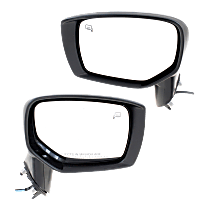 Driver and Passenger Side Heated Mirror - Power Glass, Manual Folding, In-housing Signal Light, Without memory, Paintable