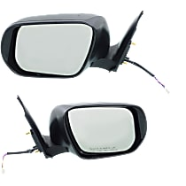 Kool Vue Power Mirror, Driver and Passenger Side, 2WD, Manual Folding, Non-Heated, w/ Signal, Paintable