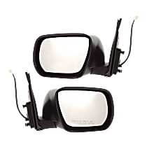 Kool Vue Power Mirror, Driver and Passenger Side, Manual Folding, Non-Heated, w/o Signal, Paintable