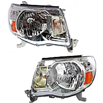 Driver and Passenger Side Headlights, With bulb(s) - 05-11 Tacoma (w/o Sport Package)