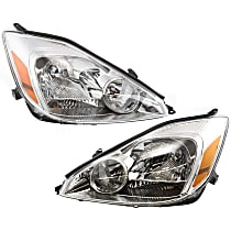 Driver and Passenger Side Halogen Headlights, With bulb(s) - 04-05 Sienna (CE/LE/XLE Model)