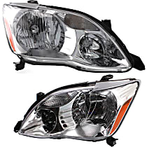 Driver and Passenger Side Halogen Headlight, With bulb(s) - (XL/XLS Model)