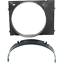 Fan Shroud - Upper and Lower, For Radiator Fan, 6 Cyl. Engine