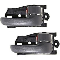 Front and Rear, Passenger Side Interior Door Handle, Gray