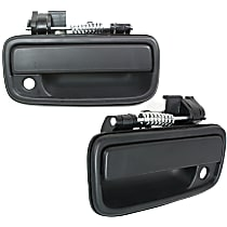 Front, Driver and Passenger Side Exterior Door Handle, Black