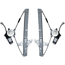 Front, Driver and Passenger Side Power Window Regulator, With Motor, Sedan