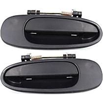 Rear, Driver and Passenger Side Exterior Door Handle, Textured Black