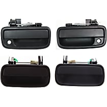 Front and Rear, Driver and Passenger Side Exterior Door Handle, Black