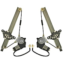 Replacement Power Window Regulator - SET-T491711 - Rear, Driver and Passenger Side, New, With Motor, 2-pin Plug, Sedan