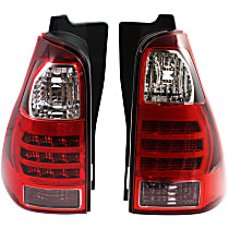 Driver and Passenger Side Tail Light, Without bulb(s) - Clear, Red & Smoked Lens
