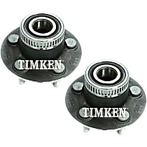 Rear Driver and Passenger Side Wheel Hub With Ball Bearing - Set of 2
