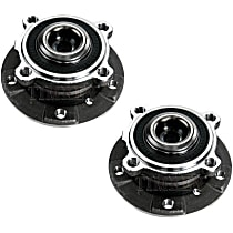 SET-TM513210-2 Front, Driver and Passenger Side Wheel Hub With Ball Bearing - Set of 2