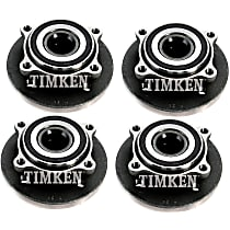 Front and Rear, Driver and Passenger Side Wheel Hub With Ball Bearing - Set of 4