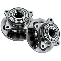 Front, Driver and Passenger Side Wheel Hub With Ball Bearing - Set of 2