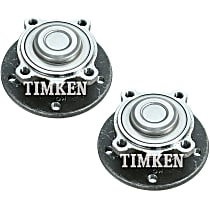 SET-TMHA590162 Front, Driver and Passenger Side Wheel Hub With Ball Bearing - Set of 2
