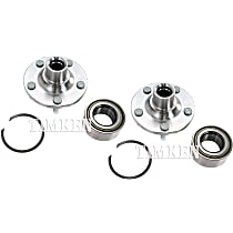 Front Driver and Passenger Side Wheel Hub With Ball Bearing - Set of 2