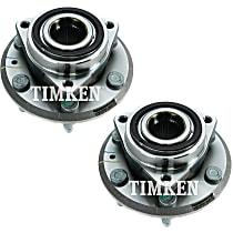 Front or Rear, Driver and Passenger Side Wheel Hub With Ball Bearing - Set of 2