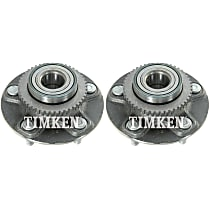 Wheel Hub With Ball Bearing - Set of 2 Front or Rear, Driver and Passenger Side