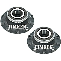 SET-TMHA592519 Front, Driver and Passenger Side Wheel Hub With Ball Bearing - Set of 2