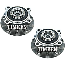 SET-TMHA593427 Front, Driver and Passenger Side Wheel Hub With Ball Bearing - Set of 2