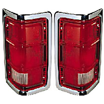 FOR 1981-1988 Dodge Ramcharger Tail Lights Lamps Driver /& Passenger Side LH+RH
