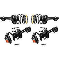 OE Replacement Front and Rear, Driver and Passenger Side Loaded Strut - Set of 4