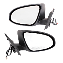 Mirror - Driver and Passenger Side (Pair), Power, Heated, Folding, Paintable, For France Built Models